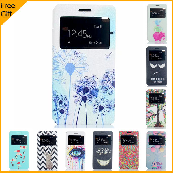"""Luxury Cartoon Leather Flip Case Cover For Lenovo S8 A7600 4G (5.5"""") Cover Case Window Cell Phone Shell Back Cover With Stand(China (Mainland))"""