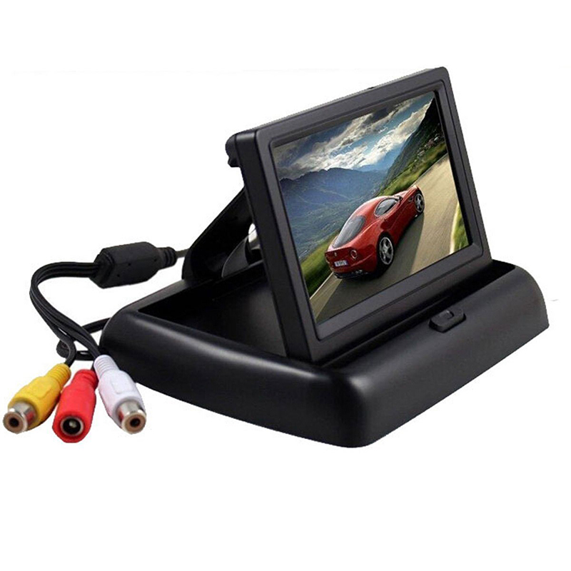 4.3 Inch Foldable Rearview Car Monitor Screen for Rear View Camera (5)