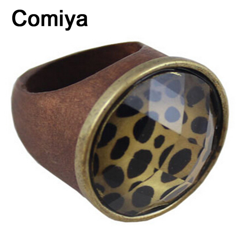 Woodiness xylon bague big acrylic accessories finger ring vintage jewelry statement rings for women zinc alloy nuevos anillos(China (Mainland))