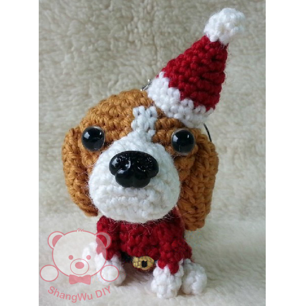 Beagle Christmas gift cotton stuffed handmade toy funny Christmas gifts(China (Mainland))