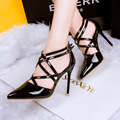 2015 Fashion High Heel Shoes 6 Style Pointed Toe Hasp Ankle Strap Thin Heels Sexy Party
