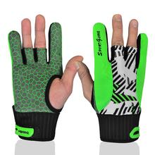 Nouvelle arrivée Silicone Non - slip gants de Bowling professionnel gants gants de sport Orange vert bal gants mitaines M L(China (Mainland))