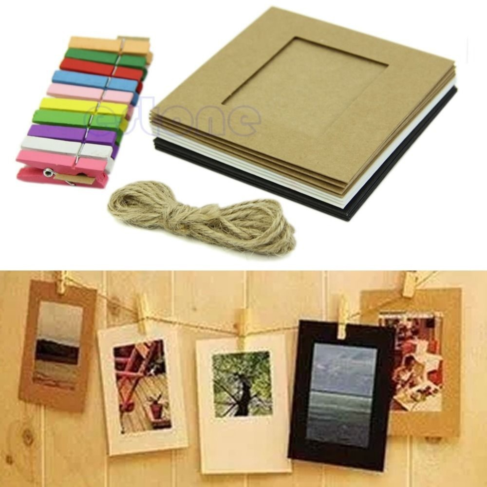 Free shipping 10pcs 3inch paper photo flim diy wall for Picture frame with clips diy
