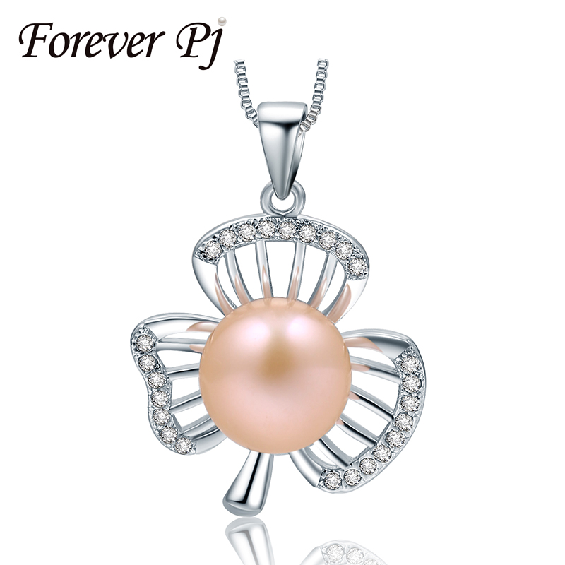 2016 Super Top Quality AAAA Pearl Pendant Necklace For Girlfriend 925 Sterling Silver Jewelry Pearl Size 10-10.5mm With Gift Box(China (Mainland))