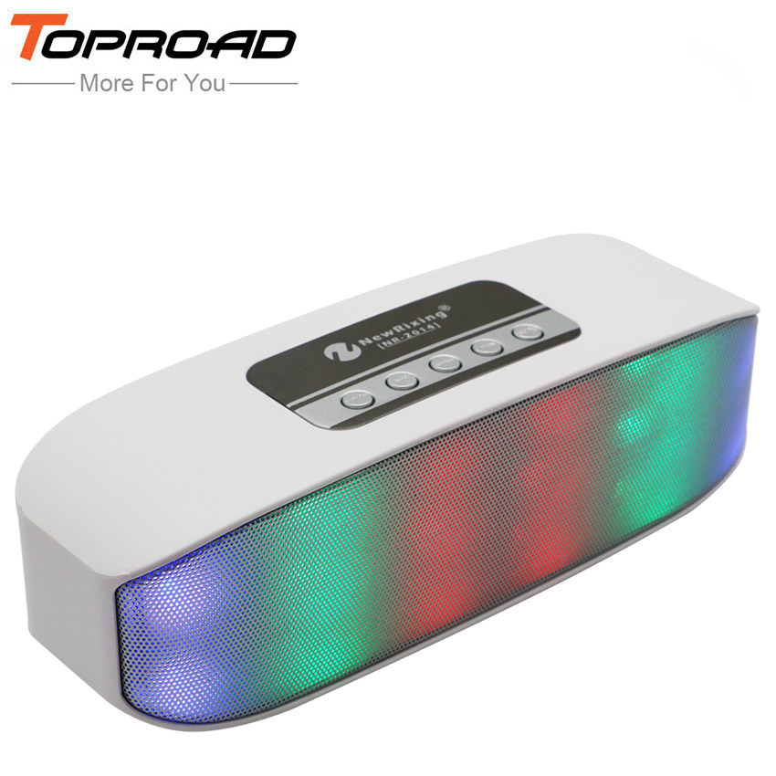 TOPROAD Bluetooth Speaker Receiver Boombox LED FM Radio TF Portable Caixa De Som Amplifier MP3 Subwoofer With Mic Loudspeaker(China (Mainland))