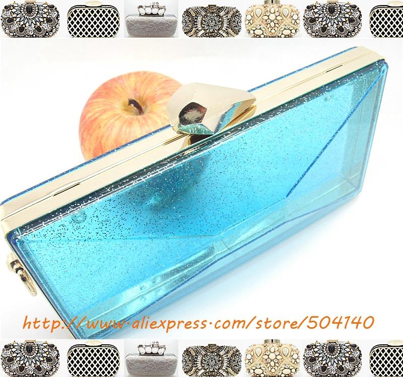 Acrylic Box 4 X 4 : Quot cm acrylic box clutch frame with clamshells
