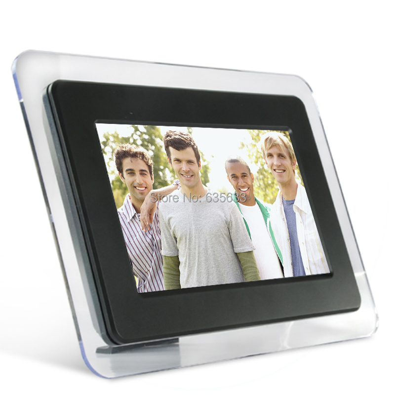 """2015 Christmas Gift for Acrylic 7"""" TFT LCD Digital Frame Photo simple function for playing pictures photos with SD card and USB(China (Mainland))"""