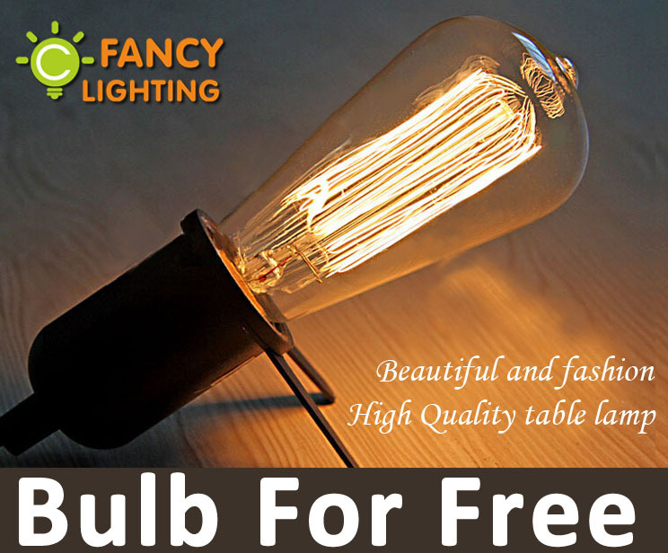 Wholesale Price Vintage bedside table lamp iron metal antique desk lamp 110/220V table light bed reading lamp Lamparas de pared(China (Mainland))