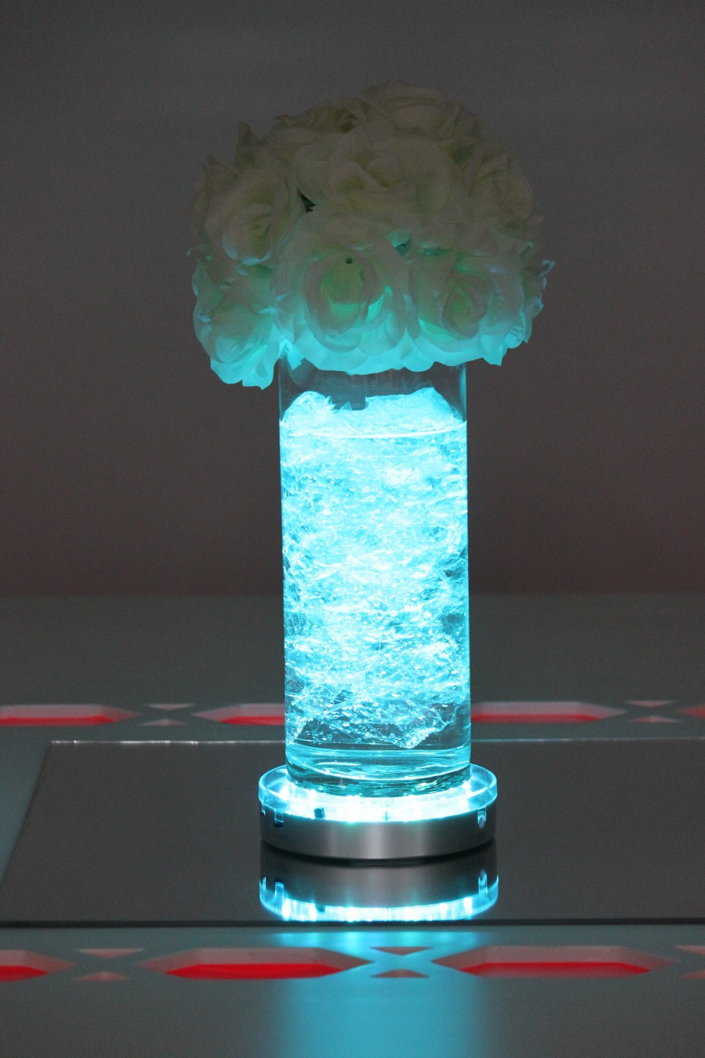 Pieces lot multi color led light base for vases