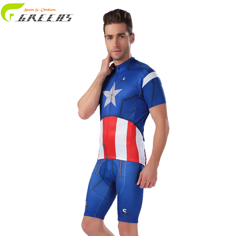 2016 New Arrival brand Bike Sports Clothing Cycle Bicycle Clothes Cycling Jerseys Super hero Summer Breathable Ropa Ciclismo(China (Mainland))