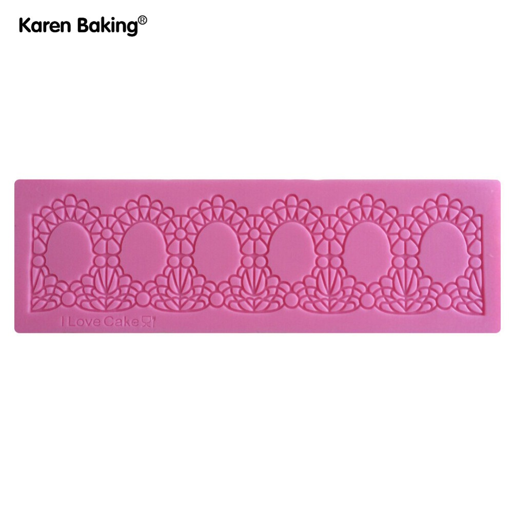 Beautiful Flower Design 3D Silicone Cake Fondant Lace Mould Tools Cookware Dining Bar Non-Stick Cake Decorating Fondant --C276(China (Mainland))