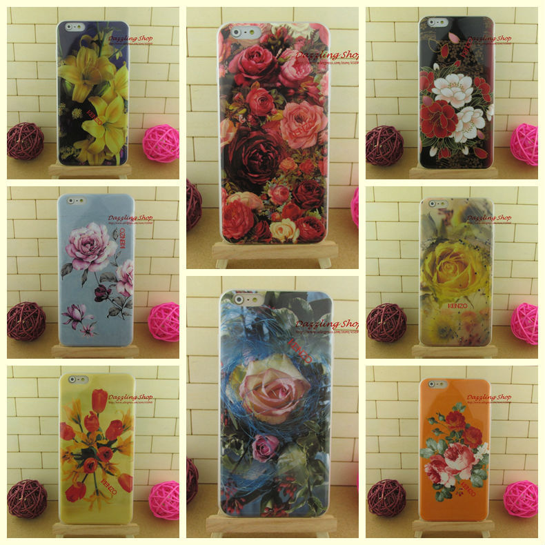Original design soft mobile phone cases dirt-resistant for iphone6 (4.7inch) street fashion flowers luxury case RIP615031401(China (Mainland))