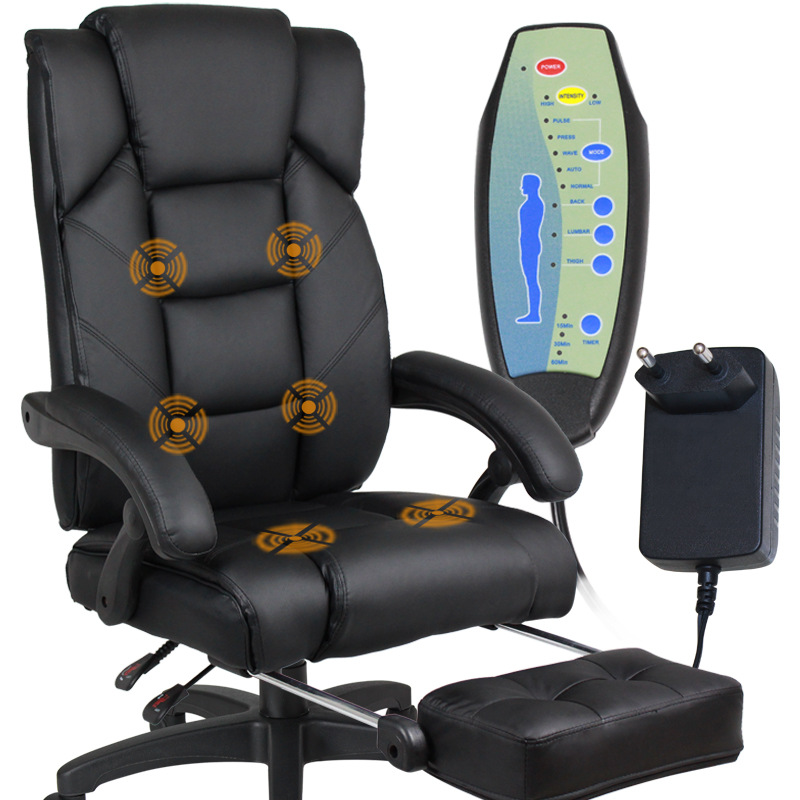 Home fice puter Desk Massage Chair With Footrest Reclining Executive Ergonomic Heated Vibrating fice Chair Furniture