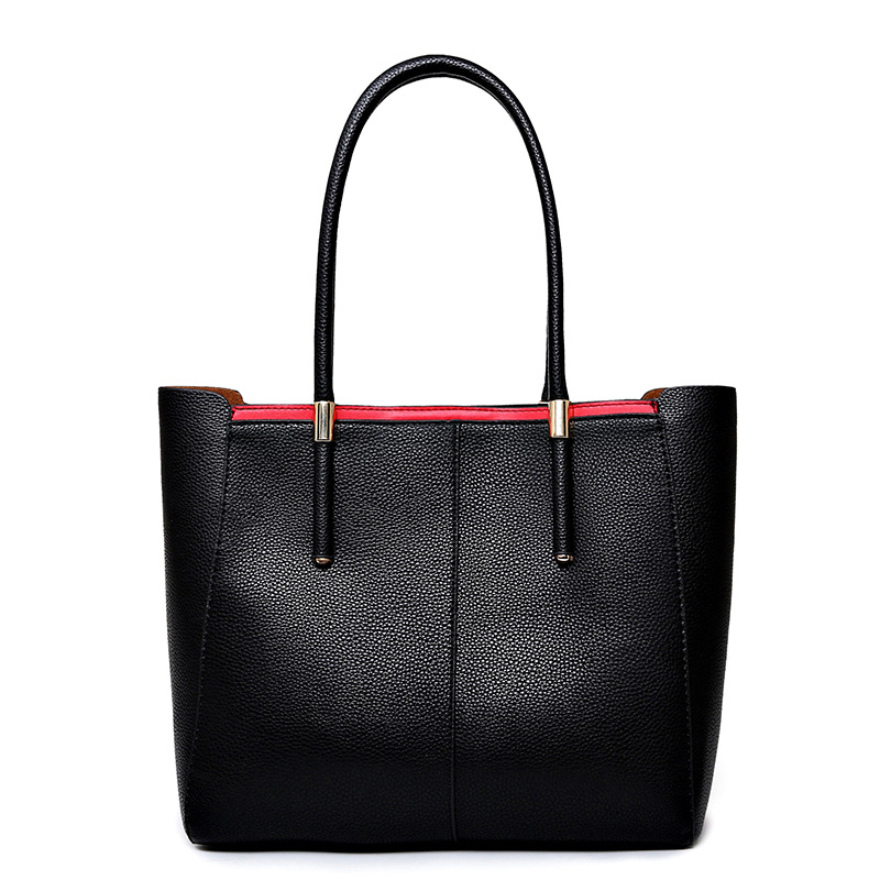 2016 Luxury Handbags Women Bags Designer Genuine Leather Tote Bags Simple Style New Fashion Women Shoulder Bags(China (Mainland))