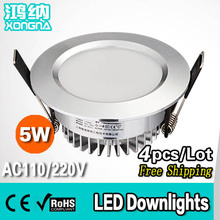 4pcs/Lot 5W LED Downlights Super Bright SMD5730 Warm White/Cold White 100~110lm/W 50,000 Hours Long Lifespan 2 Years Warranty(China (Mainland))