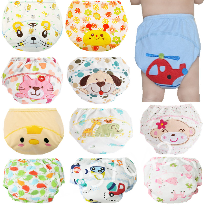 1Pcs Cute Baby Diapers Reusable Nappies Cloth Diaper Washable Infants Children Baby Cotton Training Pants Nappy Changing(China (Mainland))