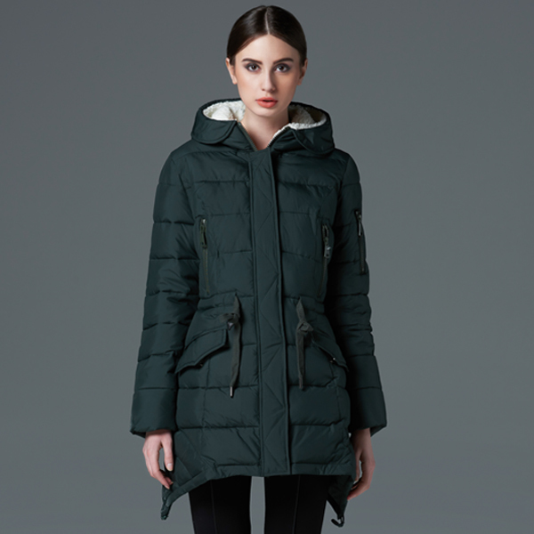 Ms icebear2015 new long thickening warm special offer have big cotton padded jacket coat code has