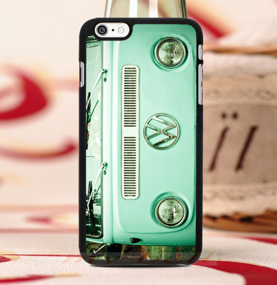 VW Mini Bus Vintage Volkswagen luxury hard skin mobile phone cases cover housing for iphone 4s 5s 5c 6 6 plus free gift(China (Mainland))