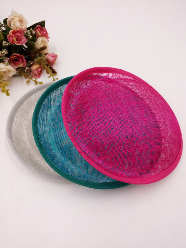 "Retail 9.84"" * 9.84"" Saucer Inspired Sinamay Percher Hat Fascinator Millinery Base diy fascinator bases free shipping 11colors(China (Mainland))"