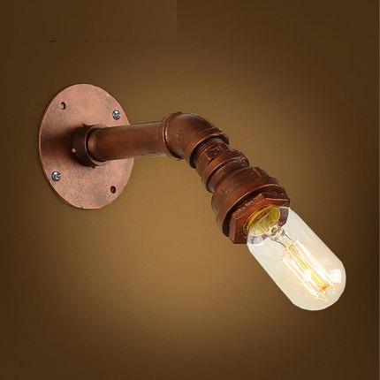 Фотография Loft Style Iron Edison Wall Sconce Creative Water Pipe Lamp Industrial Vintage Wall Light Fixtures Indoor Lighting Lampara