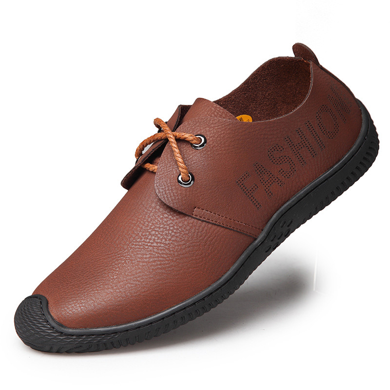 2013 new fashion mens genuine leather flats shoes casual