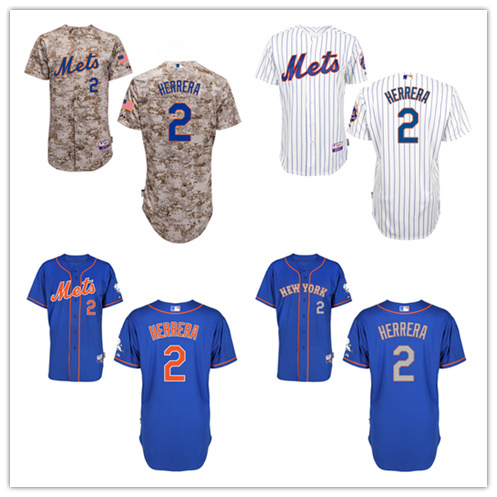 New York Mets 2 Dilson Herrera Jerseys 2015 New Embroidery Stitched Shirt Sports Dress Outlets Free Shipping Camisa(China (Mainland))