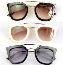 Gianna Jun Black Classic Big Square Frame Cat Eye Glasses 2018 New Vintage Fashion Summer Cool Sunglasses Women Brand Designer