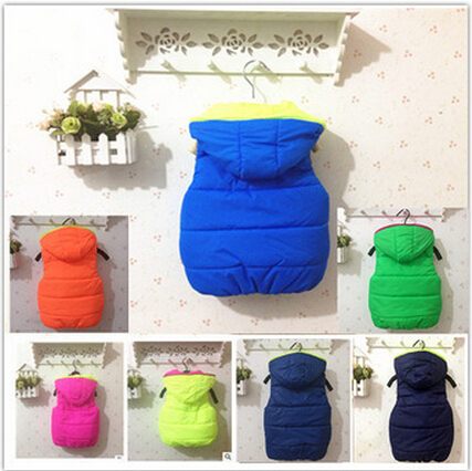 2015 new spring autumn winter color outcoats 2 ~ 6 years children sports vest letter boy girl thick coat
