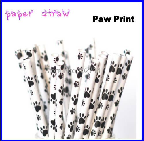 NEW Mustache Paw Paper Straws Pack of 25 Weddings Parties Showers Gifts Mustache Party Little Man
