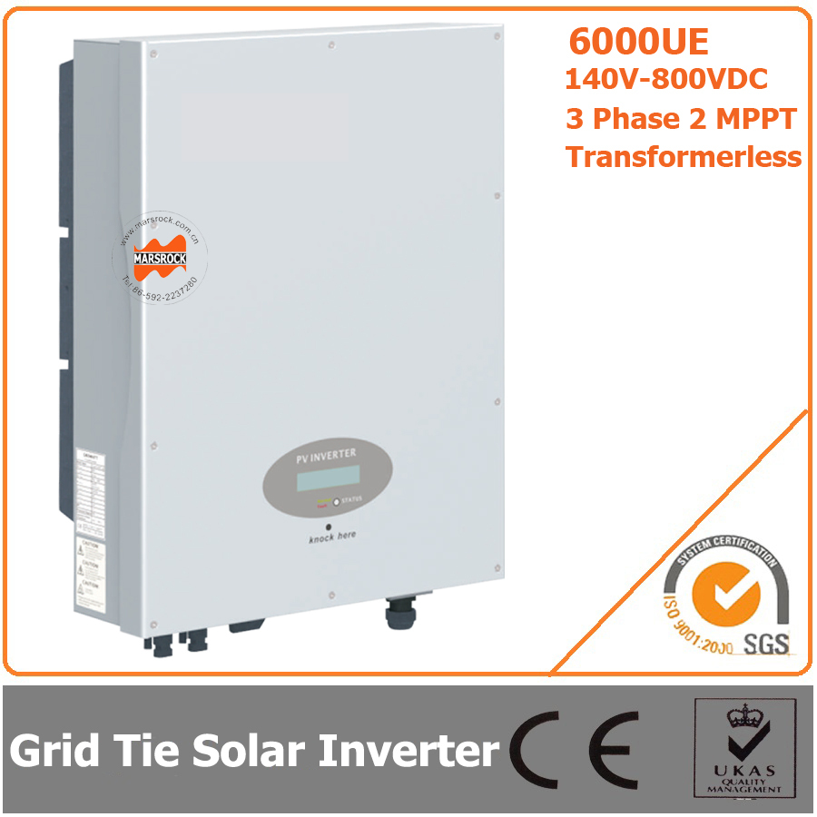 6000W 140V-800VDC Three Phase Transformerless Solar Grid Tie Inverter with CE RoHS Approvals(China (Mainland))