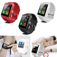 Smart Watch Phone Mate U8 Bluetooth MTK6260 For Android Samsung HTC LG Sony White Red black with retail box 10pcs/lot DHL free