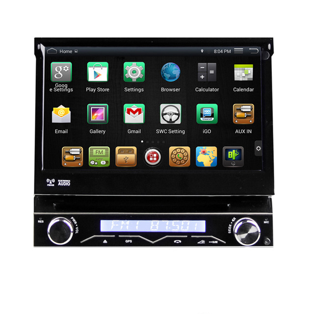 """7"""" Quad Core Android 4.4.4 1 Din Car DVD GPS One Din Car Radio Single Din Car Multimedia System with External DAB Tuner Support(China (Mainland))"""