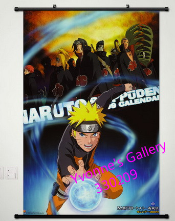 Naruto series fabric painting 90 60cm a428 anime high for Definition mural