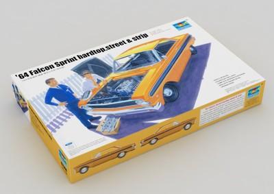 Trumpeter model 02508 1/25 64 Falcon Sprint hardtop street &strip plastic model kit(China (Mainland))