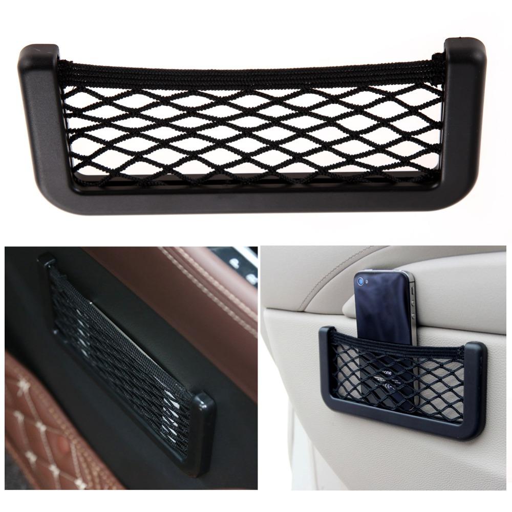 Car Auto Suv Storage Net Resilient String Bag GPS Phone Holder Pocket Free Shipping MGO3(China (Mainland))