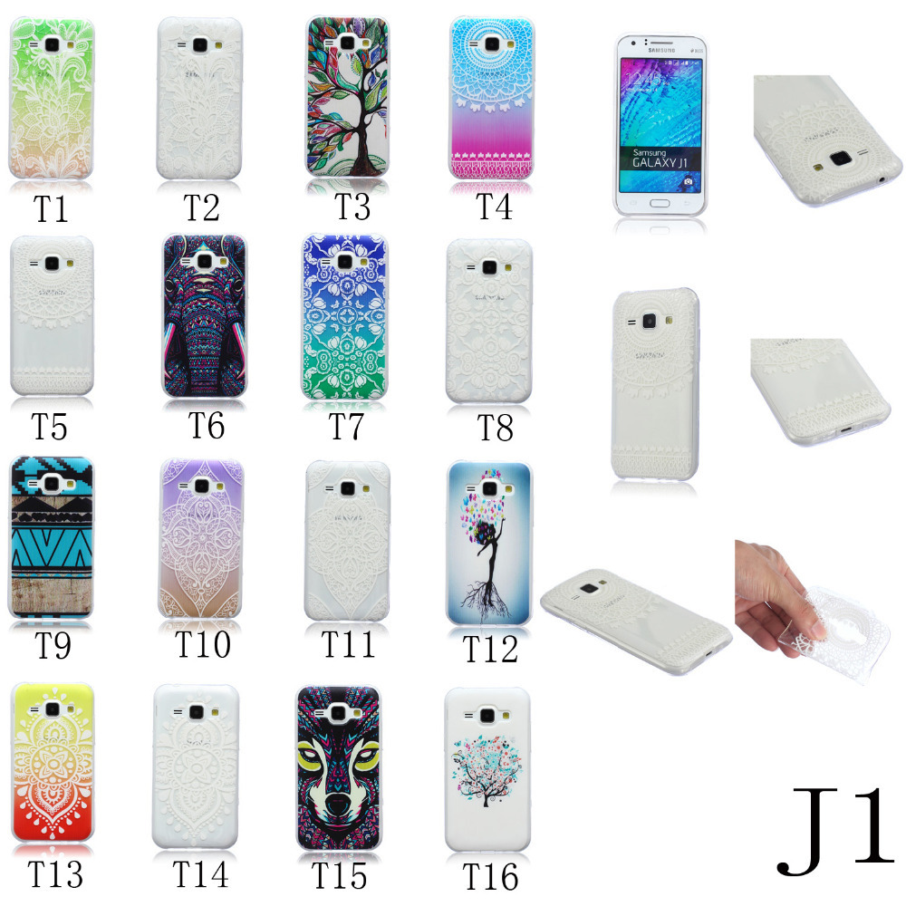 TPU Gel Slim Soft Case Back Cover for SAMSUNG GALAXY J1 Mobile Cell Phone Rubber Silicone Bags(China (Mainland))
