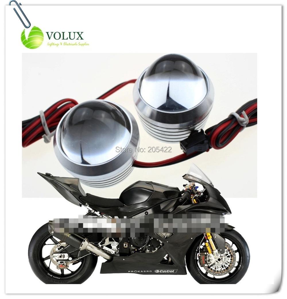 1pair 10W Motorcycle fog light License plate Led Car daytime running eagle eye Strobe flash Rear Brake Parking reverse Backup - Volux Int'l Co., (LED Lighting & Home Decor. Supplier store)