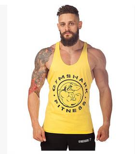 Hottest cotton gymshark undershirt gym fitness stringer vest men sleeveless workout shirt sport clothes shark tank tops - ZheJiang SunShine Import&Export Co.,Ltd store