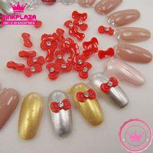 Fashion About 100pcs 6*11mm Nail Arts Resin Kawaii Bowknot Rhinestones DIY Nail polish Nail Supplies Grade A 290159(China (Mainland))