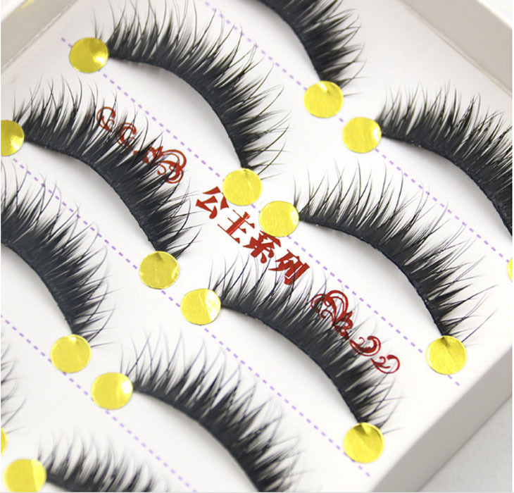 New Fashion 5 Pair Thick Long False Eyelashes Eyelash Fake Eye Lashes Voluminous Makeup Party Club Studio Makeup(China (Mainland))
