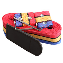 Rainbow-colored Travel Luggage Suitcase Cross Strap Baggage Backpack Belt Metal Clasp ME3L(China (Mainland))