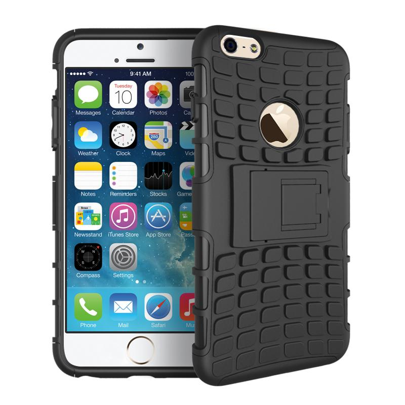 For iphone 6s Case Heavy Duty Armor Shockproof Hard Silicone Rubber Phone Case For Apple iPhone 6 Cover 4.7 inch with Stand [<(China (Mainland))