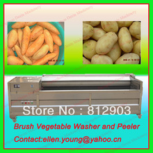 Free Ocean Shipping, Industrial Carrot/Potato Peeling Machine, Potato Stripping Machine, Potato Washer Peeler Machine---MQT1200(China (Mainland))