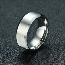 Zorcvens 2019 Baru Fashion 8 Mm Cincin Klasik Pria 316L Stainless Steel Perhiasan Pernikahan Cincin untuk Pria(China)