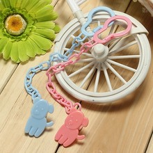 3 Colors Baby Boy Girl Dummy Pacifier Soother Nipple Chain Clip Buckle Holder Anti-lost Pacifier Cartoon Chain(China (Mainland))
