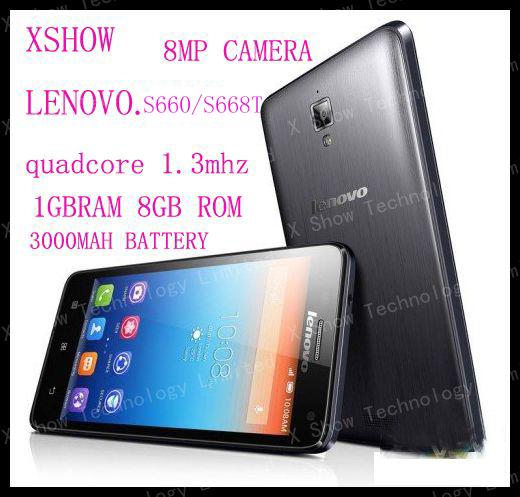 "FREEshipping lenovo S660 s668t Quad core 4.7"" IPS 1GB RAM 8MP camera Dual SIM GPS Android 4.2 phone 3000mah battery(China (Mainland))"
