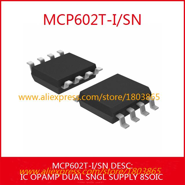 Free Shipping Hot Sale Smart Electronics Integrated Circuit MCP602T-I/SN IC OPAMP DUAL SNGL SUPPLY 8SOIC MCP602T-I 602 MCP602T 5(China (Mainland))