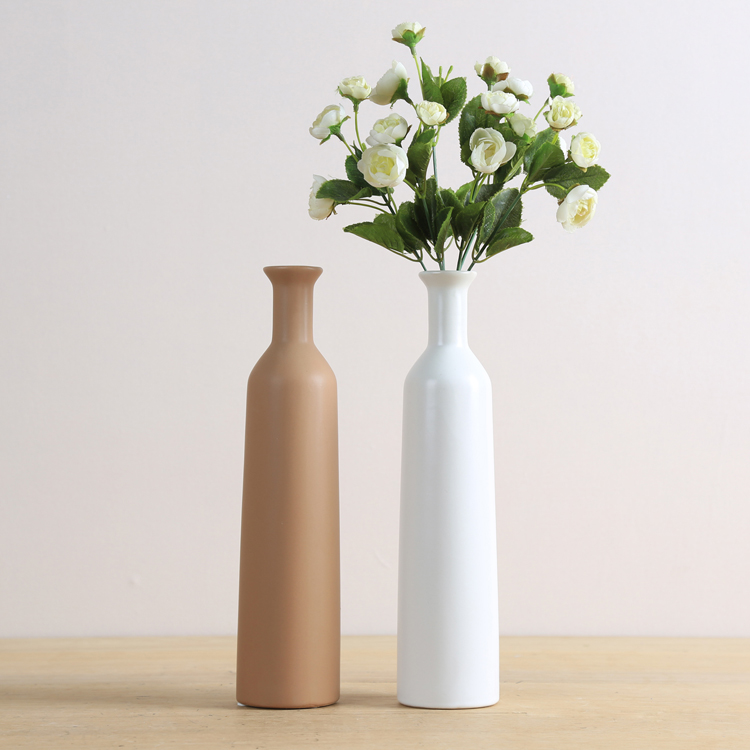 Simple modern Japanese slender small mouth vase flower