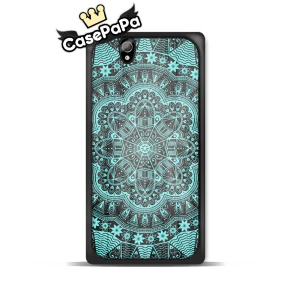 Abstract Mint Floral Circle Mandala Case For Sony Xperia Z4 Z3 Z2 Z1 Z SP M4 M2 C3 T3 T2 For LG G4 G3 G2 L90 L70 For Nexus 6 5 4(China (Mainland))