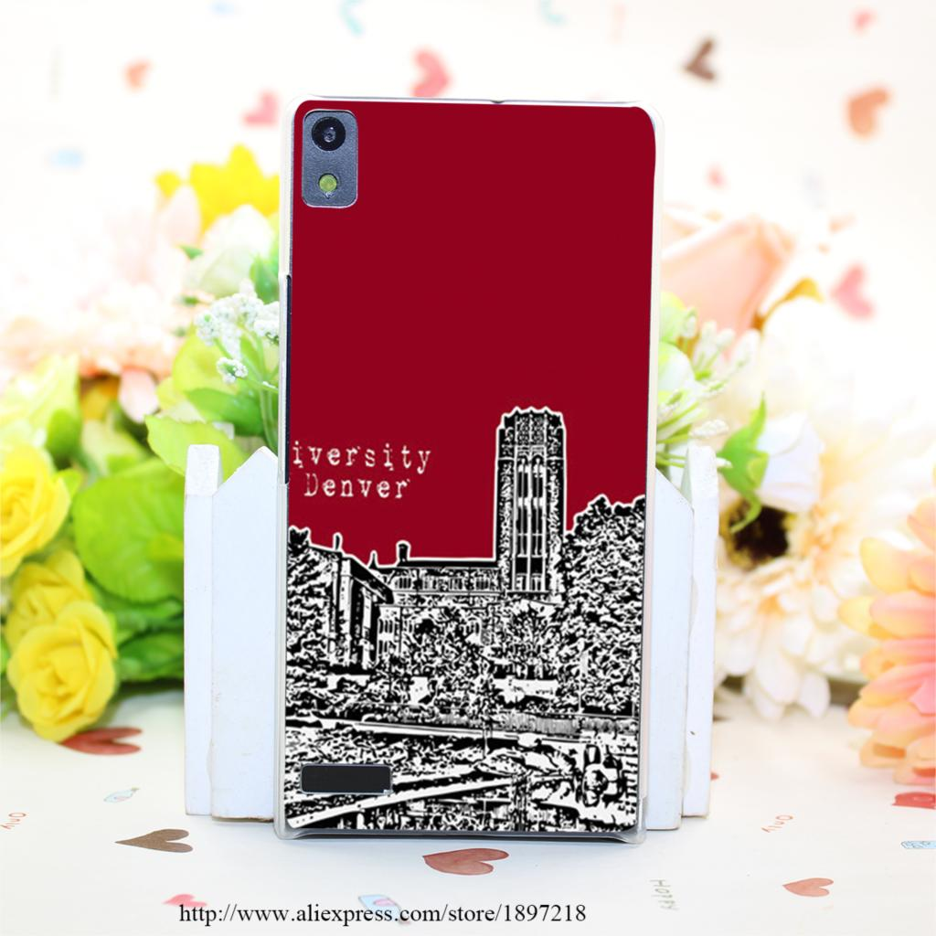 3242PQ University Of Denver Red Hard Transparent Painted Cover for Huawei Ascend P6 P7 P8 P8 Lite Case Protective(China (Mainland))